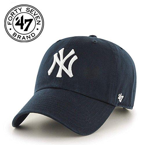 '47 MLB New York Yankees Brand Navy Basic Logo Clean Up Home Adjustable Hat