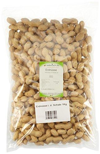 Naturix24 Erdnüsse in der Schale ungeröstet – Beutel, 2er Pack (2 x 1 kg)