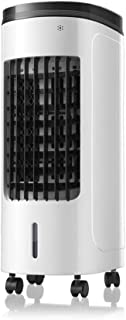 Qi Kang Evaporativo Portátil, Refrigeración 3 en 1 Portatil Climatizador 1-8h Temporizadores Aire Acondicionado Ventilador de Pie (8L) con 3 Velocidades-001 Estilo de Control Remoto