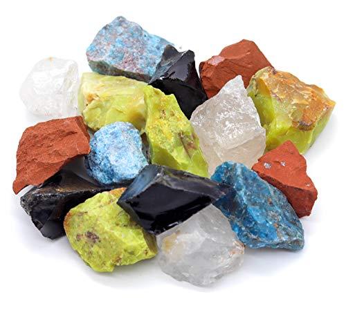 Premium Heilsteine Wassersteine Mischungen | Edelsteine Kristalle zur Wasseraufbereitung | 100% Natursteine Mineralsteine | Grundmischung Edelsteinwasser | 300g