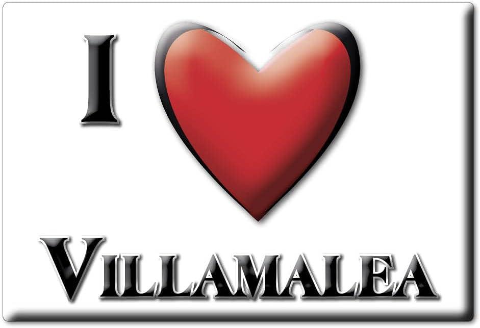 Enjoymagnets VILLAMALEA (AB) Souvenir IMANES DE Nevera ESPAÑA Castilla LA Mancha IMAN Fridge Magnet Corazon I Love