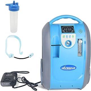 HACENOR Generador de concentrador de oxígeno portátil con bolsa, 1-5L 90-40