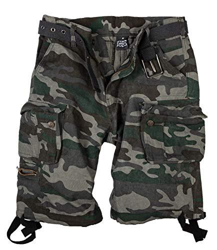 Halle 15 Ultra Cargo Shorts Black Camouflage Vintage Shorts S Bis 5XL (3XL)
