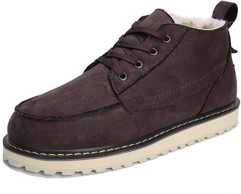 Herrenmode Stiefeletten Lässig Einfach Schnürung Winter Faux Fleece Inside Low Low Low Top Stiefel (Farbe   Braun, Größe   40 EU)  90c4db