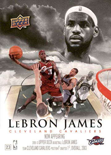 Basketball NBA 2009-10 Upper Deck Now Appearing #NA-8 LeBron James NM Near Mint Cavaliers