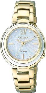 ساعة سيتيزن رسمية انالوج للنساء من الستانلس ستيل، EM0336-59D