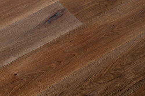 Woodstore Handelsgesellschaft WoodoLohme-PAPQ1801454 - Parquet in legno di rovere europeo, 14 x 180 x 2200 mm, luce dorata, oliato e ossidante, spazzolato (2,376 m2/pacchetto), marrone, taglia unica
