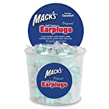 Mack's Original Soft Foam Earplugs -100 Pair - Individually Wrapped - 32dB Highest NRR, Comfortable Ear Plugs for Sleeping, Snoring, Work, Travel and Loud Events