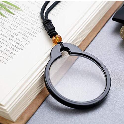 ELLENS Colgante de Gafas de Lectura, Holder Estilo Mini Lector Manual de la Lupa de Aumento para la Lectura