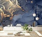 Murwall Art Wallpaper Marble Wall Mural Abstract Wallpaper Blue Wall Mural Gold Wallpaper Living Room Bedroo