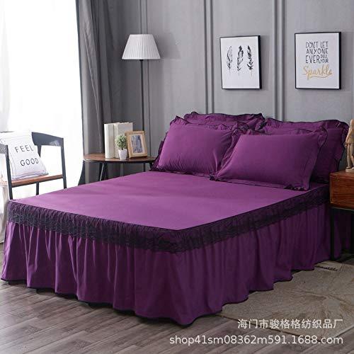 huyiming Verwendet für koreanische Version Lace Bett Kleid Einzelbett gesetzt Doppelbettdecke, rutschfeste Bett Rock 2m Bett: 200x220cm
