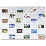 MIK Funshopping Kartenvorhang Fotovorhang On Display 36 Fotos 10 x 15 cm Collage für Bilder, Fotos und Postkarten, Querformat, Fotowand Fotogalerie Fototaschen Fotohalter Taschenvorhang