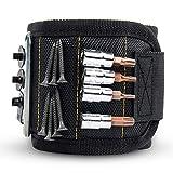 GOOACC 磁気リストバンド 15個の強力な磁石付き ネジを保持 釘 ドリル ビット ホルダー ツール 最高のユニークなツールギフト DIY ハンディマン 父 父親 夫 ボーイフレンド メンズ レディース