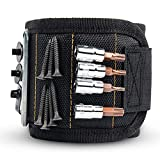 GOOACC Magnetic Wristband with 15 Strong Magnets for Holding Screws Nails Drill Bits Holding Tools Best Unique Tool Gift for DIY Handyman Father Dad Husband Boyfriend Men Women,2 years Warranty