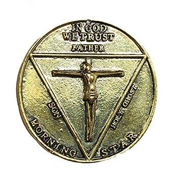 Xcoser Lucifer Pentecostal Coin Props Costume Accessories Bronze