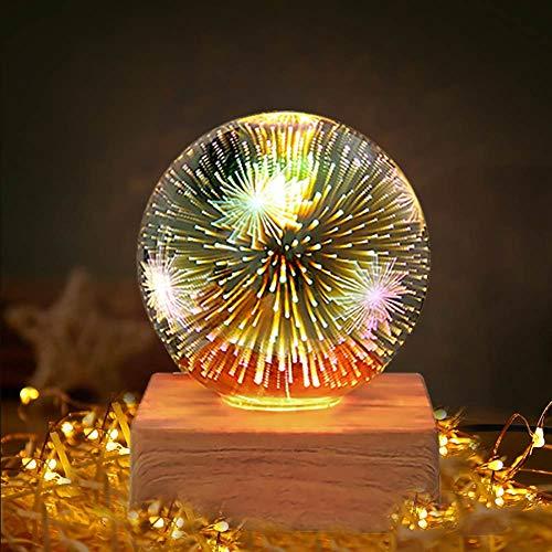 Sunbaby 3D Led Glas Magie Sternenhimmel Nachtlicht Usb Glas Kugel Dekoration Tischlampe Atm Entfernen Licht Geschenke für Baby Kinder Erwachsene