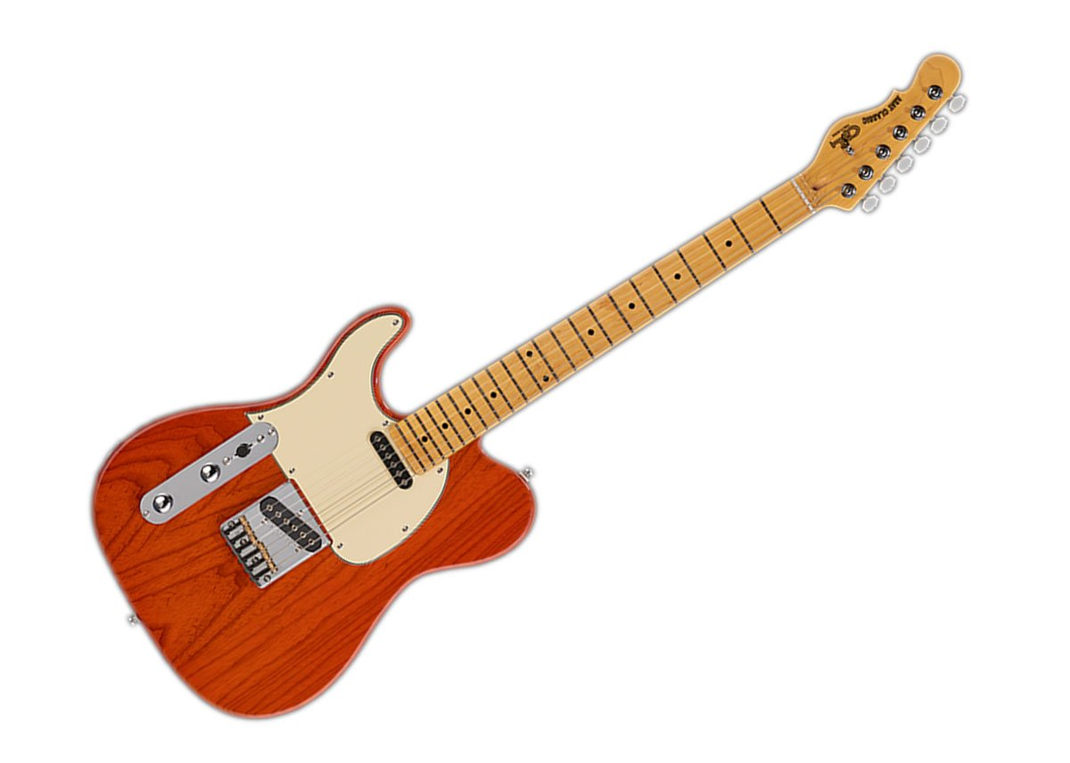 Cheap G&L Tribute Series Asat Classic Left-Handed Electric Guitar - Clear Orange/Maple - TI-ACL-121L46M73 Black Friday & Cyber Monday 2019