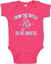 Motocross from The Bottle to The Throttle Dirt Bike Baby Bodysuit/Toddler T-Shirt for Future Rider