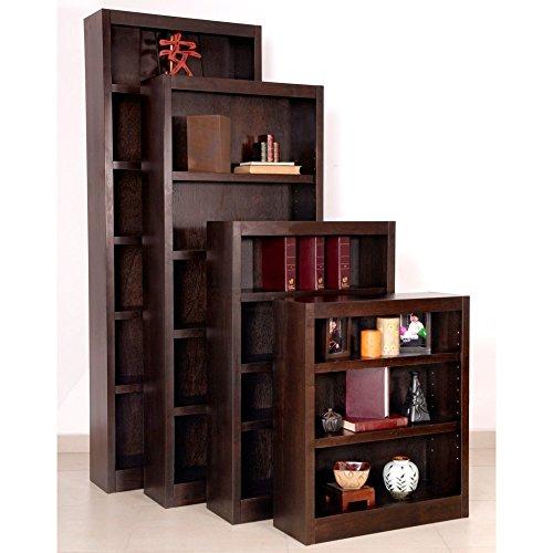 """Midas Five Shelf Bookcase 72""""H Espresso Finish"""