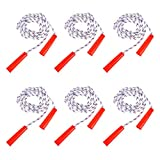 The Dreidel Company Durable Jump Ropes for Kids, Nylon with Plastic Handles, Indoor & Outdoor Skipping Activity, Party Favors, 84