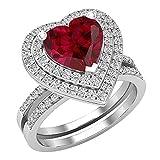 Dazzlingrock Collection Juego de anillos de compromiso de oro blanco...