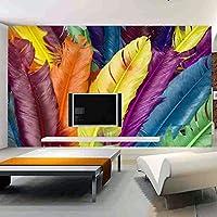 xueshao カスタム現代壁壁画3D写真壁紙に壁羽油絵リビングルームのソファの背景壁画-350X250Cm