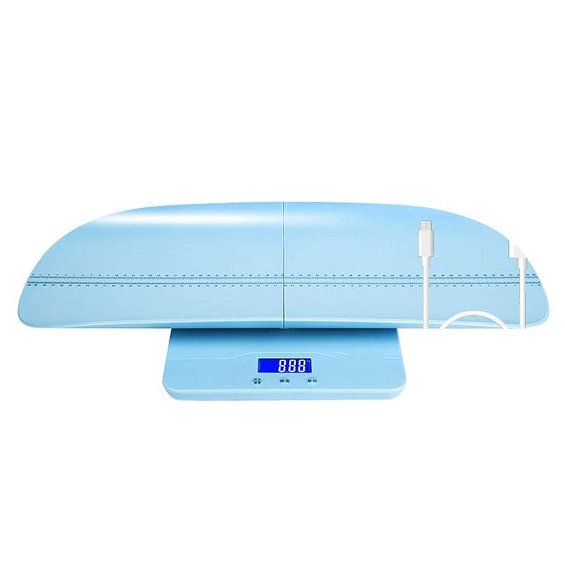 鮫ビジュアル変形体重計 マルチファンクションベビースケールデジタル高精度ベビー計量スケールバックライトディスプレイスプリットデザインマザーベイビー100kg容量(リムーバブルトレイ付)ブルー