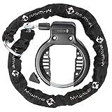 M-Wave Ringchain Rahmenschloss Mit Kette, schwarz, One Size