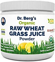 Dr. Berg's Organic Raw Wheat Grass Juice Powder with KamutTM - Natural Lemon Flavor - Rich in Vitamins, Chlorophyll & Trace Minerals - BioActive Dehydration & Ultra-Concentrated Nutrients (1 Pack)