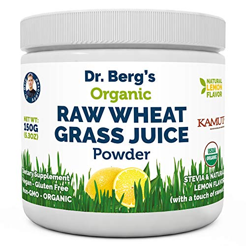 Dr. Berg's Organic Raw Wheat Grass Juice Powder with KamutTM - Natural...