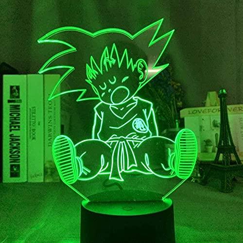 Geizland 3D ilusión luz LED noche luz acrílico mujeres voleibol para decoración de oficina adulto deporte sensor táctil remoto lámpara de escritorio regalo regalo cumpleaños regalos de vacaciones N1