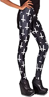 Women's High Waist Geometric Printed Ankle Elastic Tights Leggings