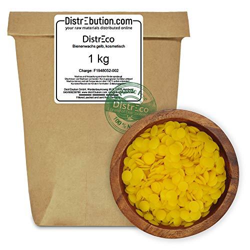 1 kg Bienenwachs Pastillen in hochwertiger Qualität & ökologisch nachhaltig verpackt. - Für die Herstellung von Kosmetik, Salben, Wachstüchern, Kerzen, Lipgloss & Möbelpflege