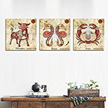Paintsh Decorative Home Furnishing Soft Printed Living Room Frameless Sofa Sofa Wall Bedroom Wall Painting Triple European...