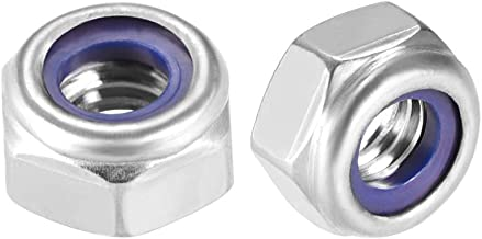 binifiMux 30pcs 304 Stainless Steel Nylon Inserted M6 Hex Flange Nut Self Lock Nuts