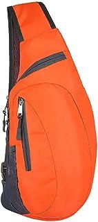 Ganghuo Sac de poitrine unisexe étanche en nylon pour voyage, sport, sac à bandoulière pour homme et femme