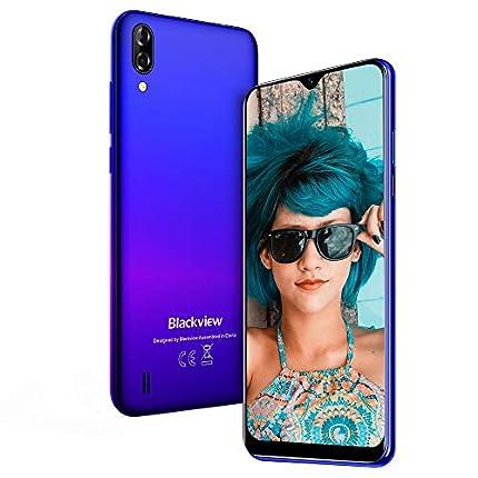 "Teléfono Móvil, Blackview A60 Smartphone de 6.1"" (19.2:9) Waterdrop Screen Movil(2020), 16GB ROM, 128GB SD, 13MP+2MP+5MP, Android 8.1 Teléfono Libre Dual SIM, 4080mAh Batería"