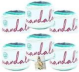 Lion Brand Mandala Yarn - 6 Pack with Pattern (Genie)