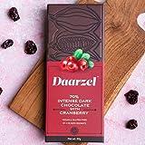 70% Dark Chocolate with Cranberry, Vegan and Gluten Free, 50 gm