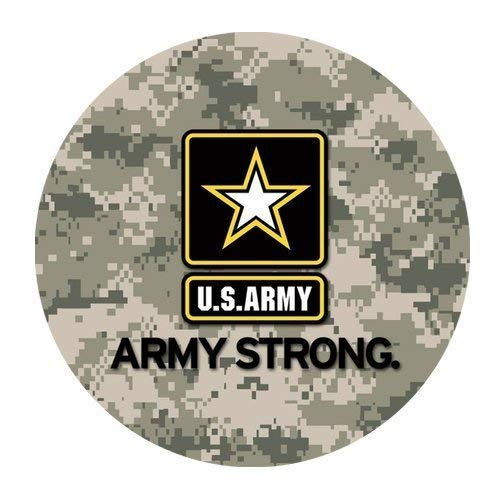 Starke personalisierte runde Mausunterlage der US-Armee-Militärarmee