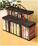 Set of 2 DVD Storage Bags (Holds 40 DVD's Each - 80 Total!). Convenient Travel Case for Media. Stackable, Easy to Carry.