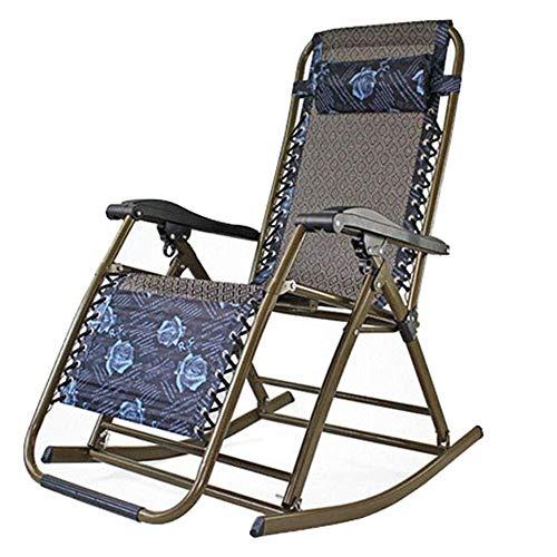 LHQ-HQ Sillas Plegables Silla reclinable salón for sillas de Patio y balcón jardín Plegable Sun Bed Terraza Jardín Conservador de Gabinete Comedor (Color: Multi-Color, tamaño: 178 * 68 * 110 cm)