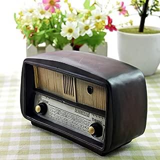 Faraway Zakka Style Home Desktop Decor Resin Crafts Antique Radio Shape Saving Pot Resin Ornaments