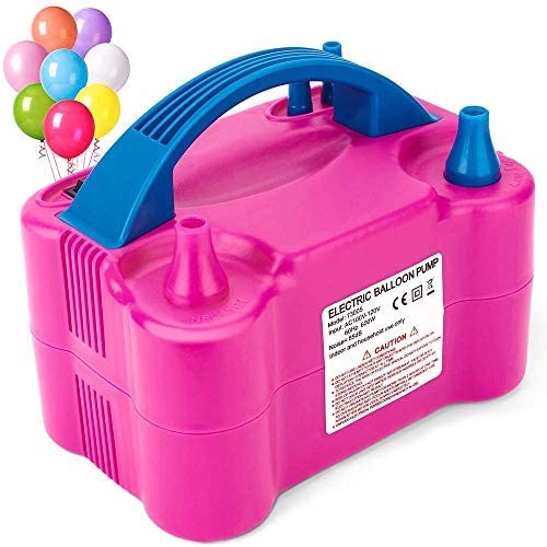 MESHA Balloon Pump Electric Portable Inflator Dual Nozzle Globos Machine Air Balloon Blower product image