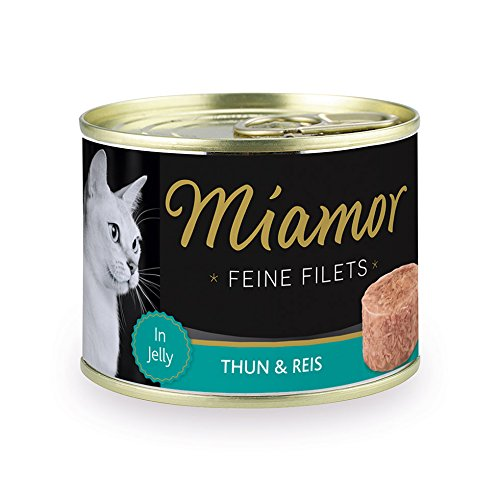 Miamor Feine Filets in Jelly Thunfisch & Reis, 12er Pack (12 x 185 g)