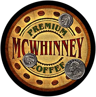 ZuWEE Brand Coffee Themed Coaster Set Featuring the Mcwhinney Family Name