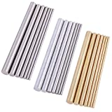 Swpeet 21Pcs Metal Round Rods Kit, 3 Kinds of Metal Materials Including Stainless Steel, Brass and Aluminum...