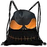 ハロウィーン ブラック おそろしい キャンディーバッグ カジュアルバックパック 巾着バッグ ファッション デザイン バンドルバックパック アウトドア 旅行 登山リュックサック