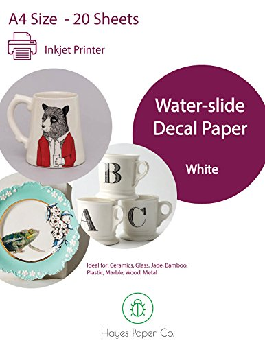 Hayes Waterslide Decal Paper Infradito colorati estivi, con finte perline