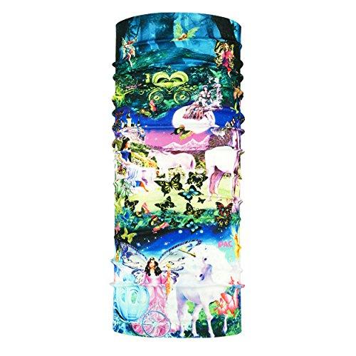 P.A.C. Kids UV Protector + Fairy World Multifunktionstuch - nahtloses Mikrofaser Schlauchtuch, Halstuch, Kopftuch, UV-Schutz, Unisex, 10 Anwendungsmöglichkeiten